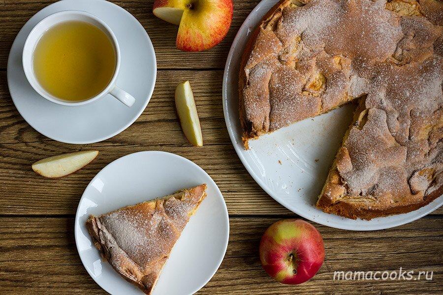 рецепт шарлотки с яблоками - шаг