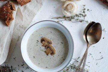 Грибной суп пюре из шампиньонов