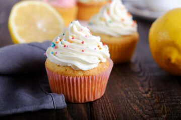 Лимонные капкейки рецепт