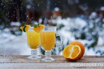 Чай с апельсином, яблоками и корицей