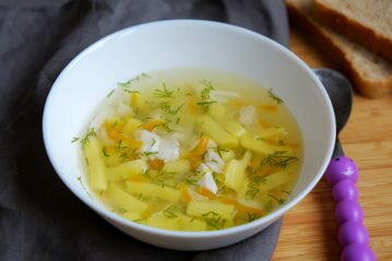 Рыбный суп для детей